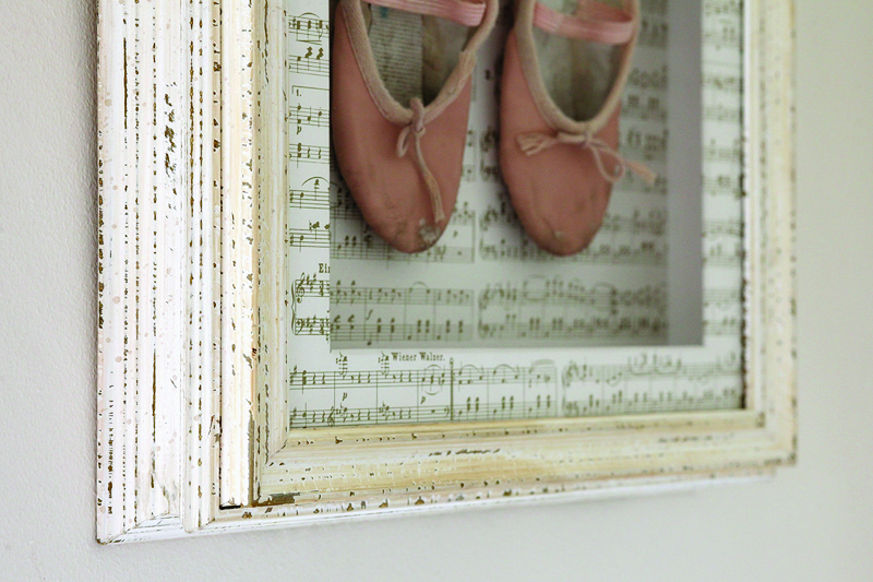 Ballet shoes framed by Bespoke Framing