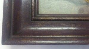 Hand finish frame by bespoke framing