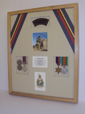 Framed Military Memorabilia