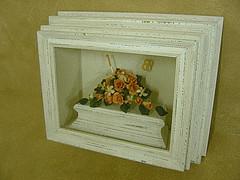 Framed Icing Sugar Flower Cake Top