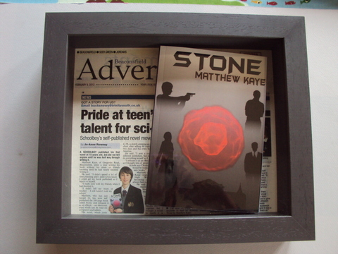 Framed Book & Newspaper Article