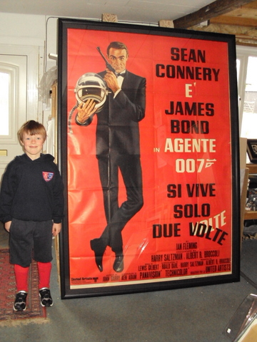 Framed James Bond Movie Poster