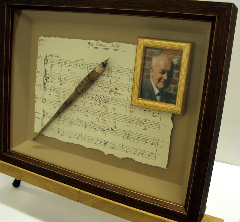 Framed Music, Pen & Photograph