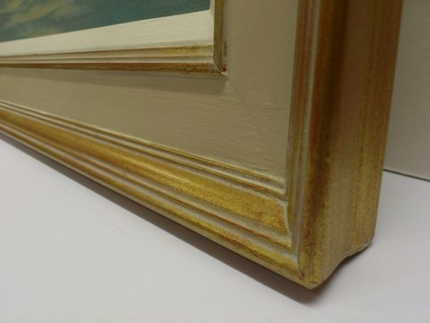 Gold/Grey gesso finish