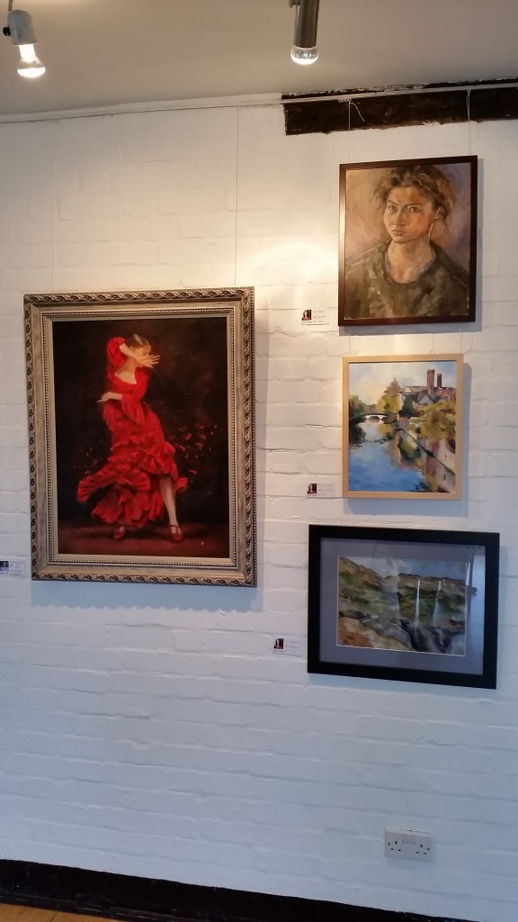 Various works displayed at The Bigger Picture at Lauderdale House.