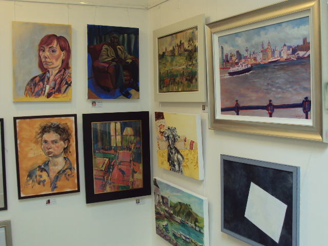 Works from The Bigger Picture Exhibition at Lauderdale House, Highgate.