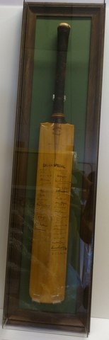 1936 signed Ashes cricket bat