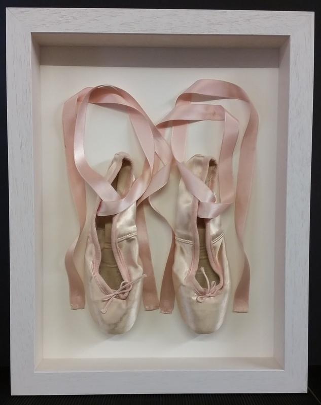 Ballet points with ribbons