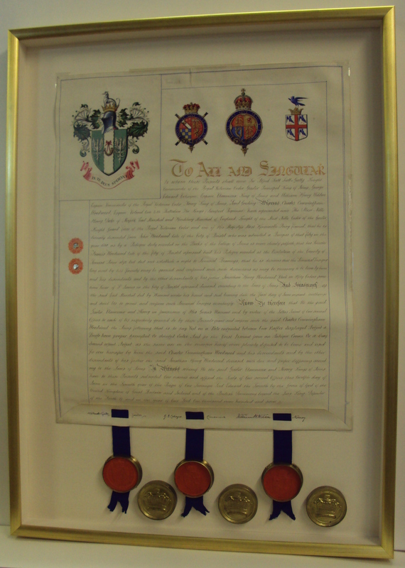 Royal Charter framed by Bespoke Framing