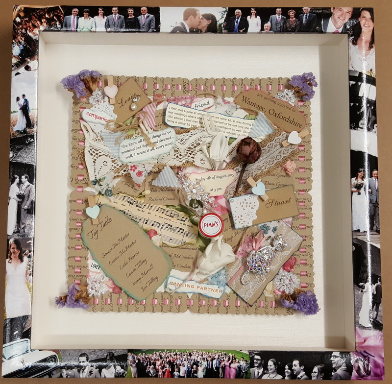 Wedding Collage with Memories In A Box framing