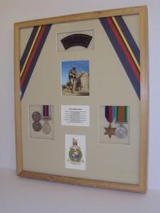 Framed Medals & Memorabilia