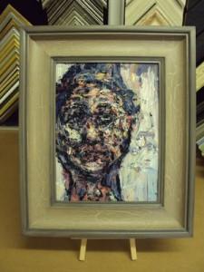 Hand Finished Frame - crackle glaze