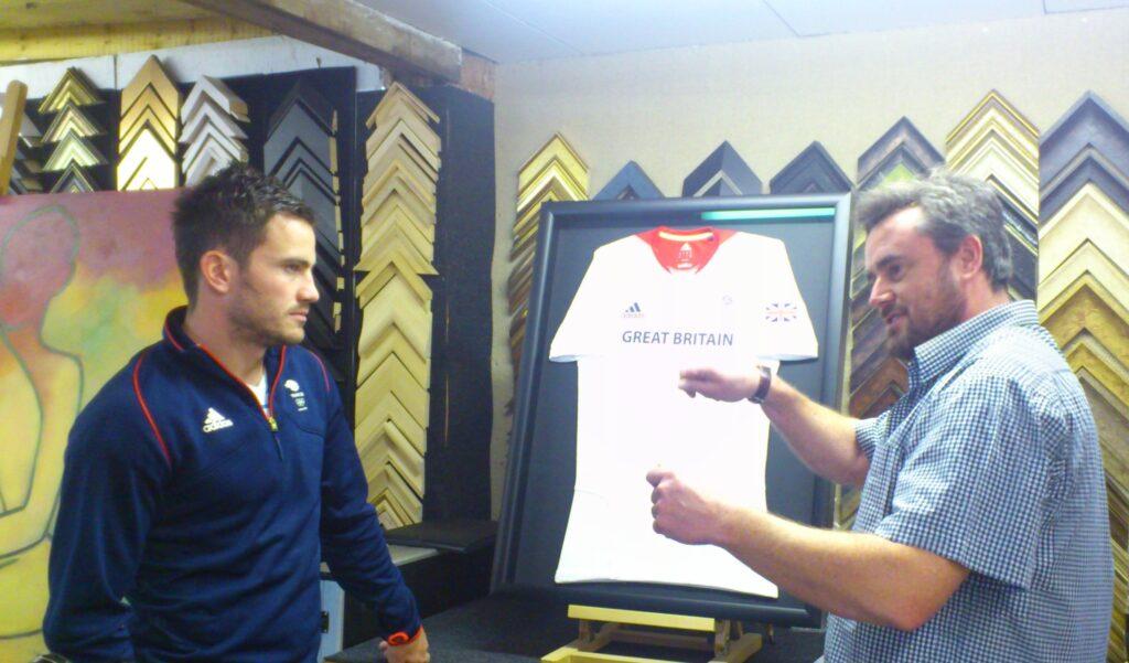 James Tindall with shirt & Alex