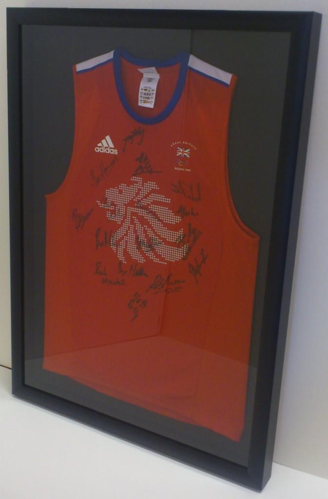 Framed Team GB Olympics 2008 Hockey Shirt