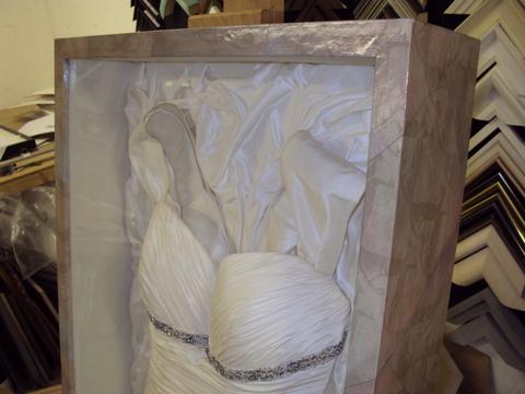 Wedding Dress - close up of top