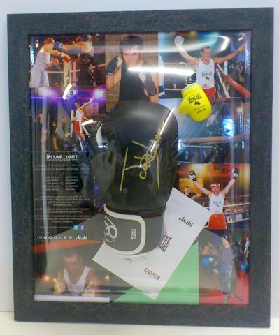 Boxing Memorabilia framed by Bespoke Framing
