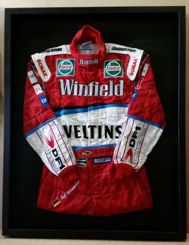 Framed Schumacher Racing Suit