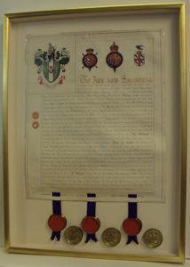 Royal Charter framed by Bespoke Framing