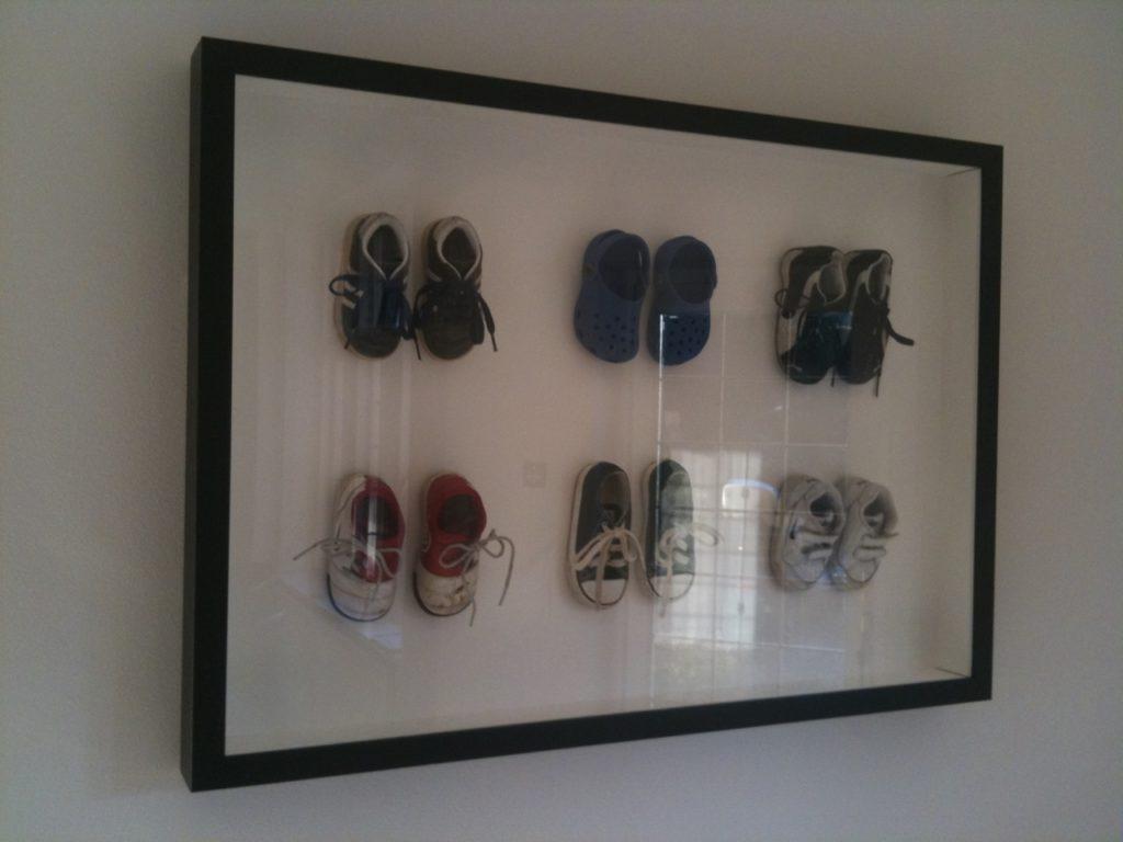 Multiple Framed Children's Shoes