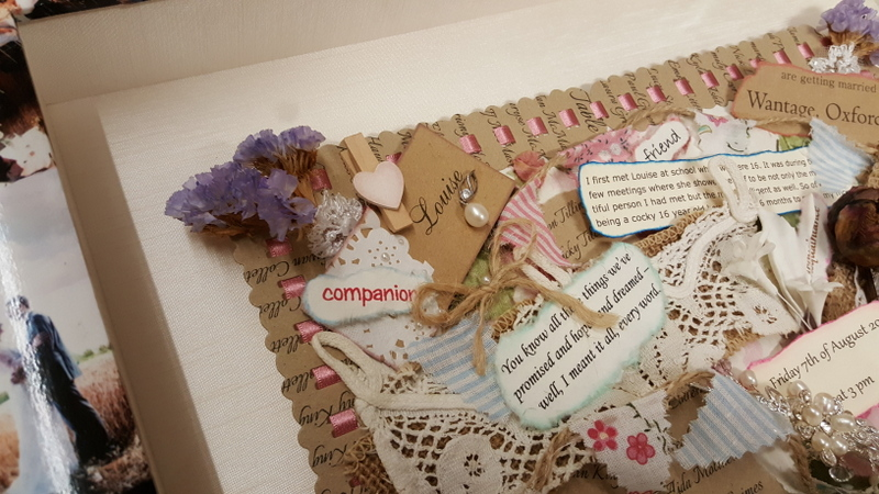 Close up of collage