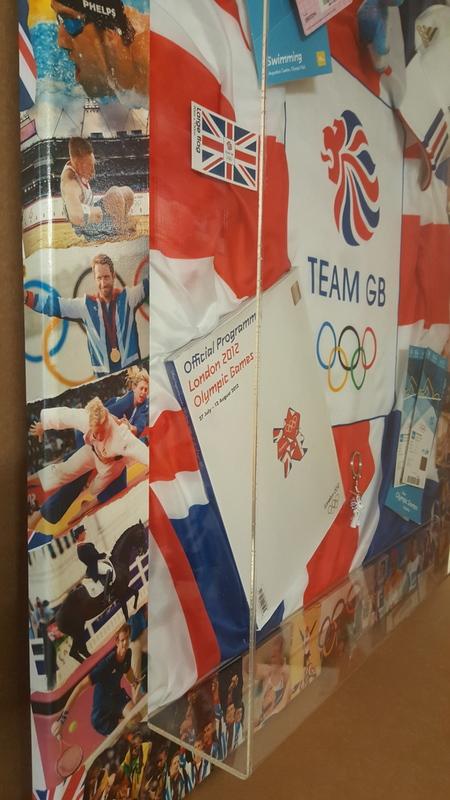 2012 Olympic Memorabilia Framed