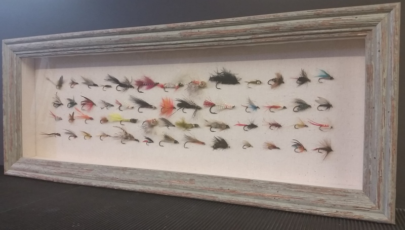 Framed Fishing Fly collection