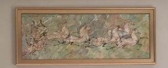 Dancing Horses - moongold gilded frame