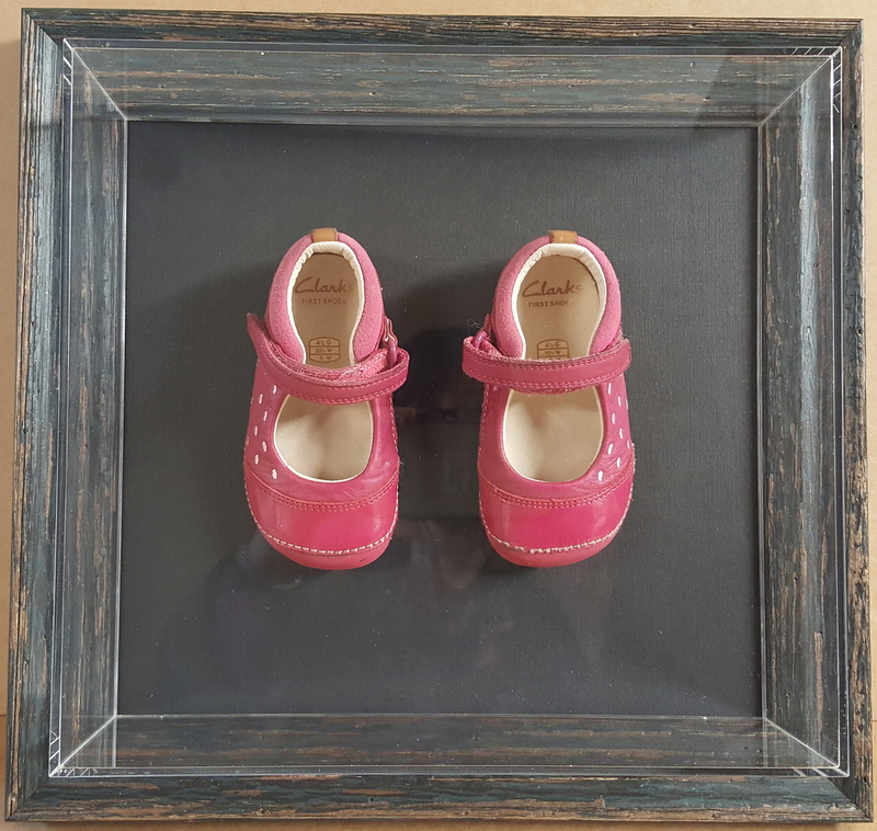 Framed First pair of shoes