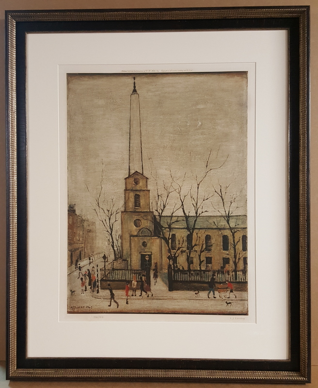 LS Lowry - limited edition signed print framed by Bespoke Framing