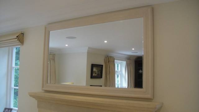 Large Mirror with hand-finished stone effect