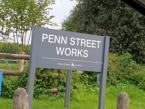 Penn Street Works Entrance Sign.