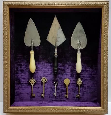 Framed Ceremonial Trowels