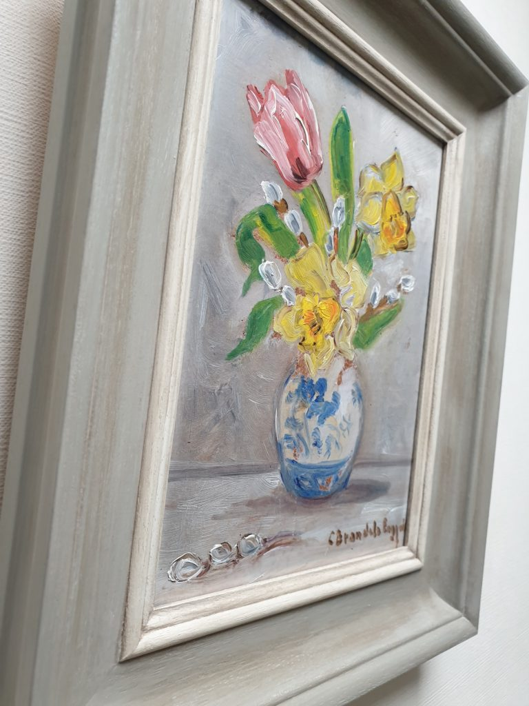 Hand Painted frame & slip side view